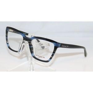 New Coach Blue Striped Eyeglasses